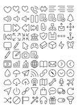 84 Outline UI icons part 2. 84 Outline UI icons Royalty Free Stock Photo