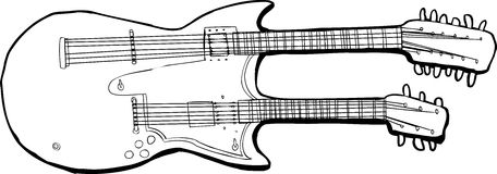 Outline of Unique Guitar Stock Photos