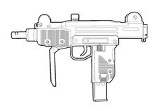 Outline uzi Stock Images