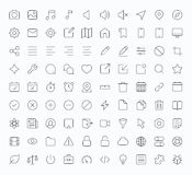 Outline vector apps shop icon Royalty Free Stock Image