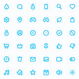 Outline vector icons for web and mobile. 36 Icons, 4 pixel stroke & 48x48 resolution Stock Images