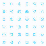 Outline vector icons for web and mobile. 36 Icons, 2 pixel stroke & 48x48 resolution Stock Images