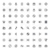 Outline vector icons for web and mobile Stock Image