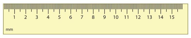 Outline vector ruler Stock Photo