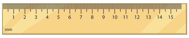 Outline vector ruler Stock Photography