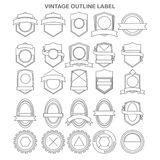 Outline vintage label collection stock illustration