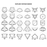 Outline vintage label collection Royalty Free Stock Photos