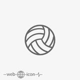 Outline volleyball ball vector icon Stock Photo