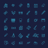 Outline web icon set - drawing tools Stock Photos