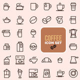 Outline web icon set - drink coffee, tea Stock Photos