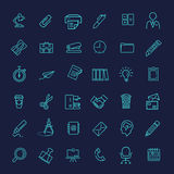 Outline web icon set - Office Stock Images