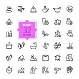 Outline Web Icon Set - Spa & Beauty Stock Photos