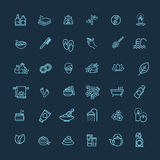 Outline web icon set - Spa and Beauty Stock Images