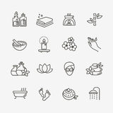 Outline web icon set - Spa and Beauty Stock Image