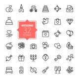 Outline Web Icon Set - Wedding Royalty Free Stock Images
