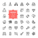 Outline web icon set - wedding Royalty Free Stock Images