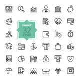 Outline web icons - money, finance, payments. Thin lines trendy icon set - money, finance, payments Stock Images