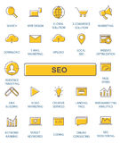 Outline web icons set - SEO. Stock Images