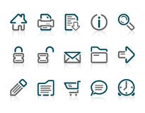 Outline web and internet icons Royalty Free Stock Photo