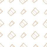 Outline whiskey vodka glasses seamless pattern Stock Photos
