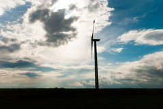 Outline of the wind turbine Royalty Free Stock Photography