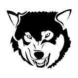 Outline wolf vector image. Can be use for logo royalty free illustration