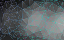 Outlined Abstract Low Poly Vector Background Royalty Free Stock Photography