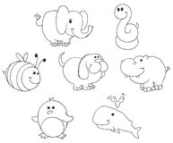 Free Outlined Animal Doodles Stock Images - 22543864
