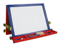 Outlined, art easel empty. Empty art easel, clip-pathed royalty free stock image