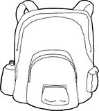Outlined Backpack Royalty Free Stock Photos