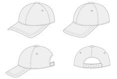 Outlined Cap Stock Photography