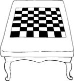 Outlined chess table with short legs Royalty Free Stock Image