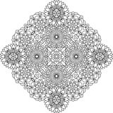 Outlined circular geometric pattern over white Royalty Free Stock Photo