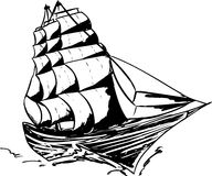 Outlined Clipper Ship Stock Photos