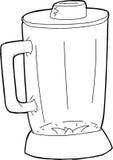 Outlined Closed Blender Jar Royalty Free Stock Image