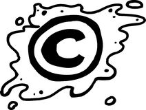 Outlined Copyright Symbol Royalty Free Stock Photos