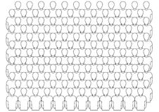 Outlined crowd Royalty Free Stock Photography