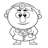 Outlined cute doctor Stock Photo