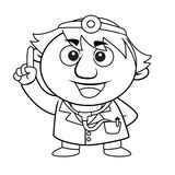 Outlined cute doctor Stock Photos