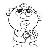 Outlined cute doctor Royalty Free Stock Image