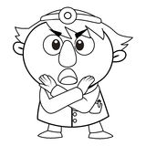 Outlined cute doctor Royalty Free Stock Images