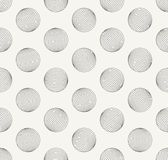 Outlined geometric background with irregular structure of repeating spheres look like tiny holes Royalty Free Stock Photo