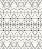 Outlined geometric texture with structure of repeating triangles and hexagons Stock Photo