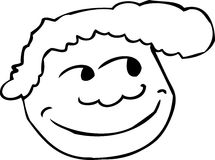 Outlined Grinning Face Icon Stock Image