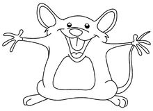 Outlined happy mouse Royalty Free Stock Image