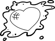 Outlined Heart in Blob Stock Image