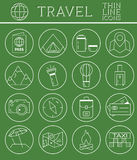Outlined Holidays and Travels Icon Set Collection Royalty Free Stock Image