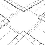 Outlined Intersection Royalty Free Stock Photo