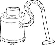 Outlined Large Vacuum Royalty Free Stock Photography
