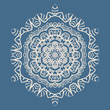 Outlined Mandala Background for greeting card Stock Photo